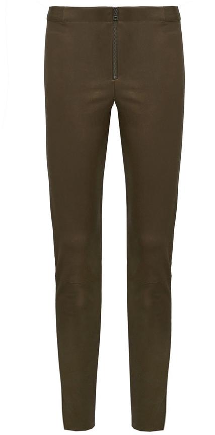 Alice + Olivia Front Zip Leather Legging