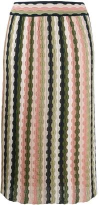 M Missoni Embroidered Midi Skirt