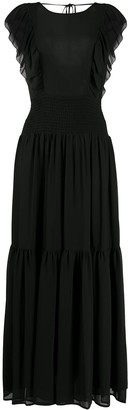 MICHAEL Michael Kors Ruffle-Trimmed Maxi Dress