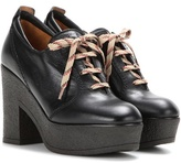 See by Chloe Platform Lace-up Leather Ankle Boots