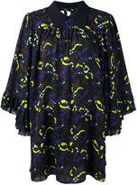 McQ by Alexander McQueen Acid Lime Flower Dress - women - Polyester - 42