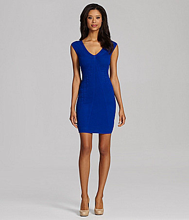 Catherine Malandrino V-Neck Pointelle Dress