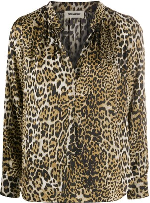 Zadig & Voltaire Tink leopard-print blouse