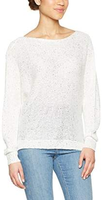 Only Women's 15131172 Loose Fit Crew Neck Long Sleeve Jumper - White - UK