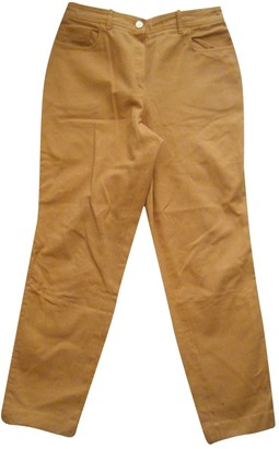 Celine Yellow Cotton Trousers