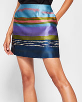Ted Baker Stripe jacquard mini skirt