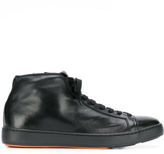 Santoni ankle lace-up sneakers