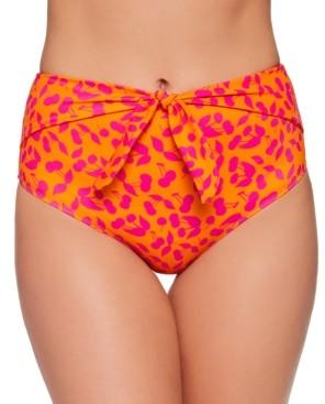 Macy's Salt + Cove Juniors' Cherry On Top High-Waist Bikini Bottoms, Created For Women's Swimsuit