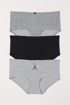 H&M 3-pack Cotton Shortie Briefs - Gray