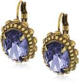 Sorrelli Oval Crystal Adorned Drop Earrings