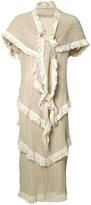 Loewe pleated layered dress - women - Polyester/Cotton - S