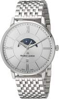 Maurice Lacroix Men's 'Eliros' Quartz Stainless Steel Casual Watch, Color:-Toned (Model: EL1108-SS002-110-1)