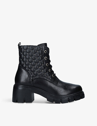 Steve Madden Harvey quilted leather boots