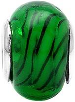 Samuel B Jewelry Sterling Silver Green Murano Glass Charm