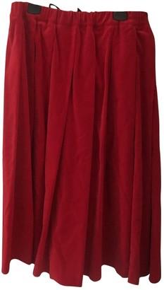 Comme des Garcons Red Velvet Skirts