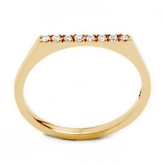 ONE JEWELRY Binna 14K Flat Top Ring With Diamonds