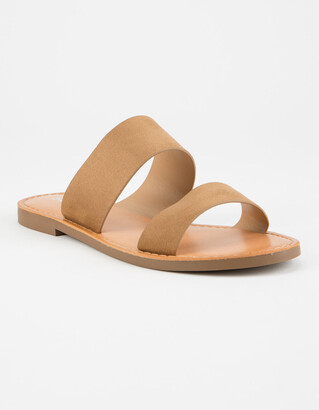 Soda Sunglasses Double Strap Tan Womens Sandals