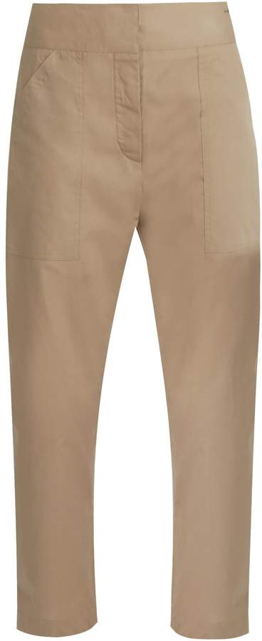 ADAM by Adam Lippes Cropped cotton trousers