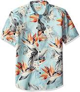 Margaritaville Men's Short Sleeve Paradise Print Shirt
