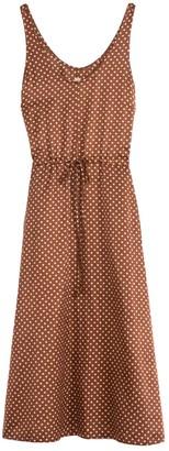 Raquel Allegra Tank Drawstring Dress in Brown Sand Polka Dot