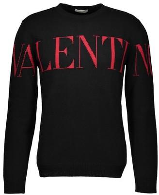 Valentino New Logo round neck cashmere jumper