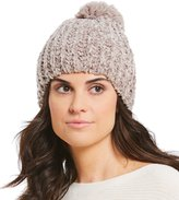 Collection 18 Ribbed Chenille Beanie with Pom