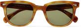 Oliver Peoples Masek D-frame printed acetate sunglasses