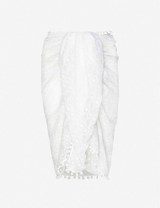 Melissa Odabash Pareo embroidered woven sarong