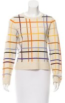 Lisa Perry Merino Wool Windowpane Sweater