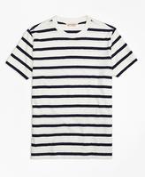 Brooks Brothers Slub Striped Tee Shirt