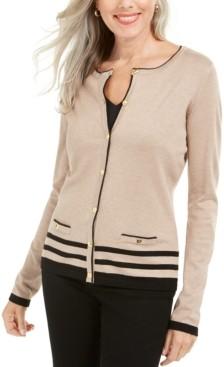 Karen Scott Plus Size Alexa Cardigan, Created for Macy's