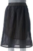 Women's Double Click Gingham Midi Skirt