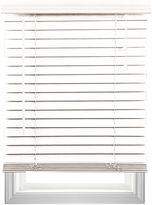 Asstd National Brand Cut-to-Width 2 Textured Faux-Wood Blinds