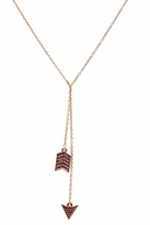 House Of Harlow Arrow Wrap Necklace With Pave in Rose Gold