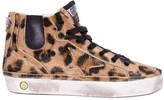 Golden Goose Deluxe Brand Jhoe Leopard Faux Zip Lace-up Trainers