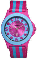 Crayo CR0708 - Fuchsia Nylon/Multicolored Analog Watches