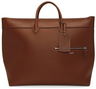 Burberry Brown Calfskin Sanford Tote