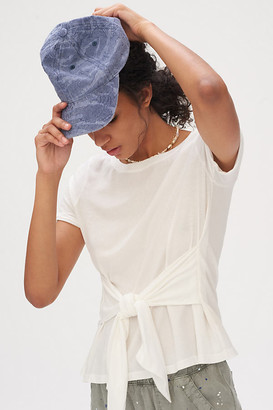 Anthropologie Rosamund Tie-Front Tee By in White Size XS