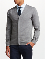 J. Lindeberg Merino Wool Cardigan, Light Grey