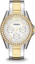 Fossil Women's ES3204 Riley Analog Display Analog Quartz Gold Watch
