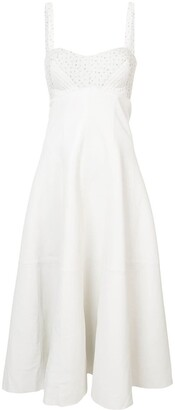 Natasha Zinko Sleeveless Quilted Midi Dress