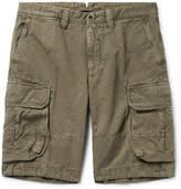 Incotex Cotton And Linen-blend Cargo Shorts - Sage green