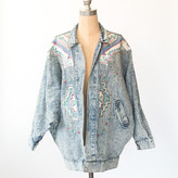 Dusty Rose Vintage Southwestern Denim Jacket