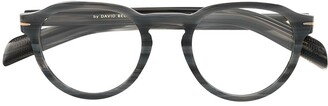 David Beckham Full-Rim Round Frame Glasses