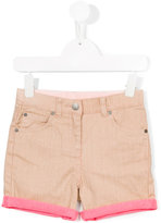Stella McCartney contrast trim denim short - kids - Cotton/Spandex/Elastane - 2 yrs