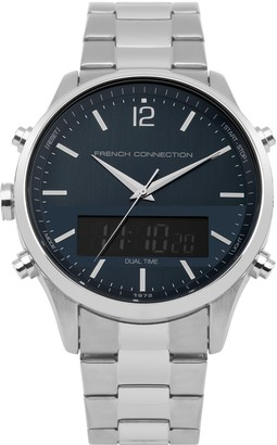 French Connection Mens Digital Quartz Watch with Stainless Steel Strap FC1311USM