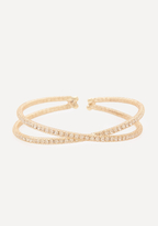 Bebe Crystal Crisscross Bracelet