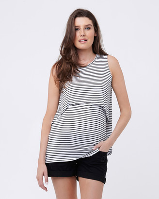 Ripe Maternity Stripe Swing Back Nursing Tank