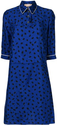 Marni Polka-Dot Print Shirt Dress