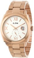 A Line a_line Women's AL-80014-RG-22 Dashuri Light Silver Dial Rose Gold Ion-Plated Stainless Steel Watch
